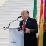 El compañero Fernando Ramos fue el encargado de intervenir en la ceremonia, dando voz a los colegiados de su promoción en sus bodas de oro profesionales