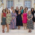 La presidenta del Colegio y las compañeras arquitectas técnicas que recibieron la Insignia de Honor de plata por 25º aniversario profesional