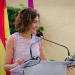 La presidenta del Colegio, Leonor Muñoz, dirigió un emotivo discursos a los homenajeados