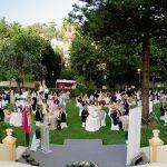 Panorámica del acto, celebrado en los jardines de la sede colegial el 9 de julio de 2021